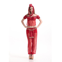adult womens pirate costume - Adult Womens Sexy Halloween Party India Arabic Lady Costumes Outfit Fancy Cosplay Top Pants