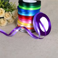 Wholesale 2016 Satin Ribbon Party Christmas Crafts Wedding Bow Polyester Satin Ribbon Christmas Ribbons Decorative Packaging Wedding Decorations