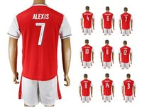 Wholesale Customized Home ALEXIS Champions League Soccer Jersey Tops With Shorts Football Jersey OZIL Soccer Jersey Uniforms Soccer Sets Wear