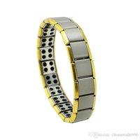 Wholesale NMMTER Health Bracelet Gold Anti Fatigue Germanium Titanium Bracelet Power Bangle For MEN WOMEN Health Reduce muscle tension