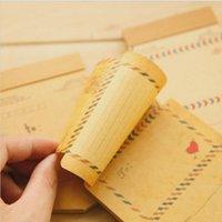 Wholesale set Mini Retro Vintage Kraft Paper Envelopes Cute Cartoon Kawaii Paper Korean Stationery Gift