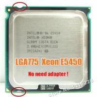 Wholesale Intel Xeon E5450 xeon CPU Processador GHz M Mhz igual a obras em mainboard LGA775 Q9650 não há necessidade de adaptador