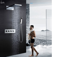 bathroom faucet sizes - Multi Function LED Shower Set Large Size Inches Hot Cold High Flow Bath Water Mixer Bathroom Shower Faucet Set