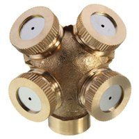 Wholesale High Quality Hole Adjustable Brass Spray Misting Nozzle Garden Sprinkler Irrigation Fitting Best Price