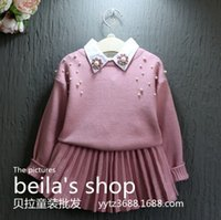 ball suits - In the autumn of New Girls Princess nail ball sweater two piece suit skirt sweater set