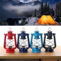 Wholesale 2016 New Arrival Retro Portable Iron Adjust Brightness LED Lantern Camping Fishing Lamp Outdoor Camping Tent Lamp