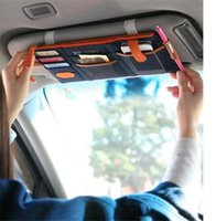 Wholesale Car Organizer colors multi purpose Sunvisor point pocket auto car hanging storage bag canvas for credit card cell phones business card