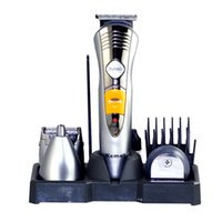 Wholesale 2016KeMei Men Electric Clipper Hair Trimmer in Elektrorasierer Haar rechargeable haircut professional hair cutting KM A