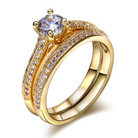 Wholesale Women Luxury Cubic Zirconia Wedding Rings Lead Free Her and His Ring Nickel Free Free Postage