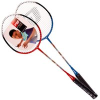 Wholesale Red iron alloy racket two pack lovers take