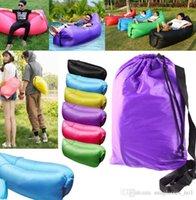 Wholesale lamzac fast inflatable Lounger Air Sleeping Bag Portable Air Sleep Sofa Couch Camp bed Folding Sofa Beach Lazy Sleeping Bed KKA612
