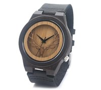 wood watches wholesale - Hot Item New Arrival Classic Bamboo Wooden Watch wristwatches leather bamboo wood watches for men women gift OEM