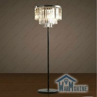 Wholesale Replica item industrial lamp S ODEON CLEAR GLASS FRINGE FLOOR LAMP K9 Lustre CRYSTAL