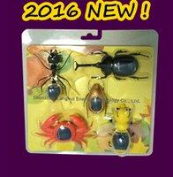Precio de Juguete educativo de abeja-2016 Nuevo 5-en-1 juguete de la energía solar del producto educativo bricolaje juguete grande de la hormiga / abeja / Escarabajo / cangrejo niños / escarabajo juguete solar de Navidad de regalo # 16n1