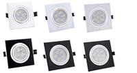 Wholesale Super bright Square Led downlight W W W W W W W W W spot light home lighting AC85 V recessed downlight lighting