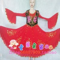 Wholesale New Xinjiang handmade dress minority dance performance apparel Uygur performance apparel