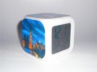 big ben alarm clocks - New Big Ben Night Scene Creative Led Alarm Clock Desk Clock Digital Alarm Clock with Snooze Calendar Thermometer Kids Toy