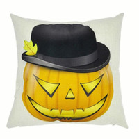 Wholesale Halloween Pumpkin Pillowcase European Style Funny Party Sofa Pillow Cases Cotton Linen Square x45cm Cushion Covers