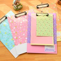 Wholesale The new fashion creative new clipboard folder A4 cardboard hook portable notes office supplies stationery