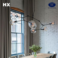 Wholesale G4 LED chandelier Lindsey Adelman Chandeliers lighting modern lamp novelty pendant lamp natural tree branch suspension Christmas light hotel