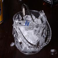 Wholesale led Bucket Wine Bar Whiskey Set Water bucket Reusable Ice Led Bucket Metal Bucket kKtchen Accessories Drink Ice Stone Glass Wine Rack JJ35