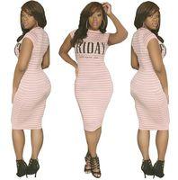 Wholesale 2016 Women Lady Girls Female Stripe Light Color Short Sleeve Letter Print Summer European Hot Sale Women Clothes A