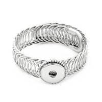 Bangle Asian & East Indian Unisex New Fashion SG0249 Beauty Charming 4style silver&golden metal ginger snap bracelet bangle fit 18MM ginger snap buttons wholesale