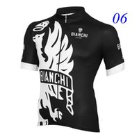 Wholesale Bian chi New Arrival Cycling Jerseys Tops Only Short Sleeve Summer Cool Road Bicycle Wear Ropa Ciclismo Styles For Choice