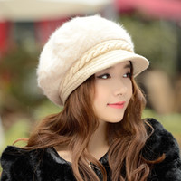 Wholesale Autumn Winter hats for women Korean style Keep Warm Fashion double thickness protective ear Small brim hat