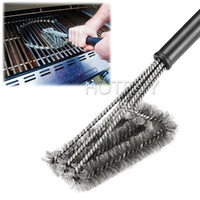 baking machines - 18 quot Rugged Grill Cleaning Brush BBQ Tool Grill Brush Stainless Steel Brushes In Provides Effortless Cleanin BBQ Accessories