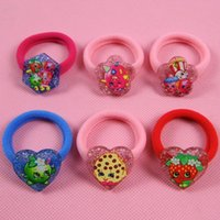 baby jewelry stores - fruit store ring rubber head ring jewelry shopping season hair clips colors baby girls hairbands hairpins girls