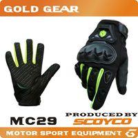 Wholesale Scoyco MC29 Gloves guantes Motorcycle Full Finger High Protective Shell Silicon Motocross Racing MX motorbike motocicleta new
