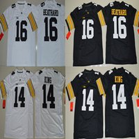 Wholesale Iowa Hawkeyes Desmond King C J Beathard Black White College Football Jersey Size S M L XL XL XL