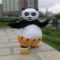 bear kung fu - on sale KungFu Panda Mascot kung fu Panda mascot Costume panda bear Cartoon Character with Adult Size