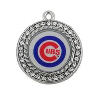 Wholesale Chicago Cubs baseball team logo enamel charms