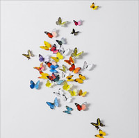 Wholesale Factory Direct butterfly style home accessories wall Art D decorative stickers waterproof PVC plastic butterfly Decorative Stickers DHT32