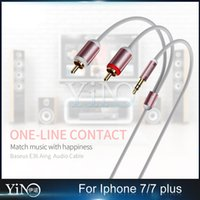 apple iphone rca cable - Baseus E36 Aing to RCA One in Two Audio Cable Rose Gold For iPhone Plus MOQ