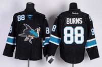Wholesale 88 Brent Burns New Stanley Cup Final Bound Premier Men Ice Hockey Jersey San Jose Sharks Black Premier Alternate NHL Stitched Jerseys