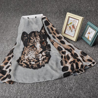 beach head scarf - Viscose material leopard head pattern reactive dyeing scarves and shawls women scarf cm fashion beach Pashmina XS