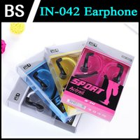 Wholesale IN Sports Earphones Ear hook Headphone With Mic For IPhone S Earphone Headphones Ear Hook Earbud With Retail Packaging Box
