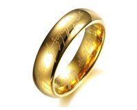 Wholesale The newest gold silver ring The hobbit ring The Lord of the rings ring Tungsten steel men s ring
