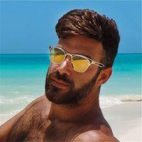 avaitor sunglass - Vintage Avaitor Sunglasses Men Brand Design Retro Outdoor Silver Mirror Sunglass Male Sun Glasses For Men Sunglass Eyewear
