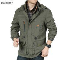 assault jacket mens - Jacket Men Fashion Brand Male Jackets Multi pocket Battlefield Assault Quality Jacket Coats Mens Jackets Windbreake