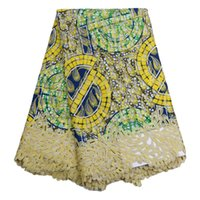 fabric - African Prints Lace Fabric High Quality African Cord Guipure Lace nigerian laces Guipure Embroidery For Wedding party dress