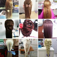 Wholesale wig mix color model head fake head model hair wig mannequin doll head hair practice head hair