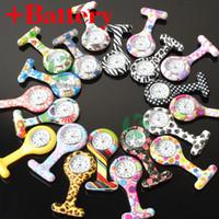 Wholesale Fashion Silicone Nurse Watch Doctor Watch Brooch Tunic Fob Nursing Pendant Clip Pocket Quartz Pocket Watches