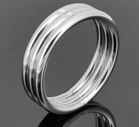 Cheap 45 50 mm light wight Stainless steel penis ring with Delayed Ejaculation stay hard cock ring for men