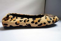 Loafers ballet leopards - Famous Brand Fashion Slip On Ballet Flats Loafers Shoes Women Leopard Horsehair Genuine Leather Shoes Sz