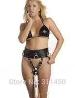 Cheap Female Sexy Leather Forced Orgasm Underwear Belt for Magic Wand Womens Massage Waist Bondage Harness Thong Fetish Costume