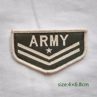 army military rank patches - USA Military Insignia Army Rank Corporal Sew On Patch Shirt Trousers Vest Coat Skirt Bag Kids Gift Baby Decoration